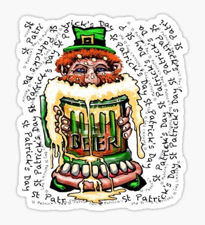 St Patrick's Day Beer Sticker