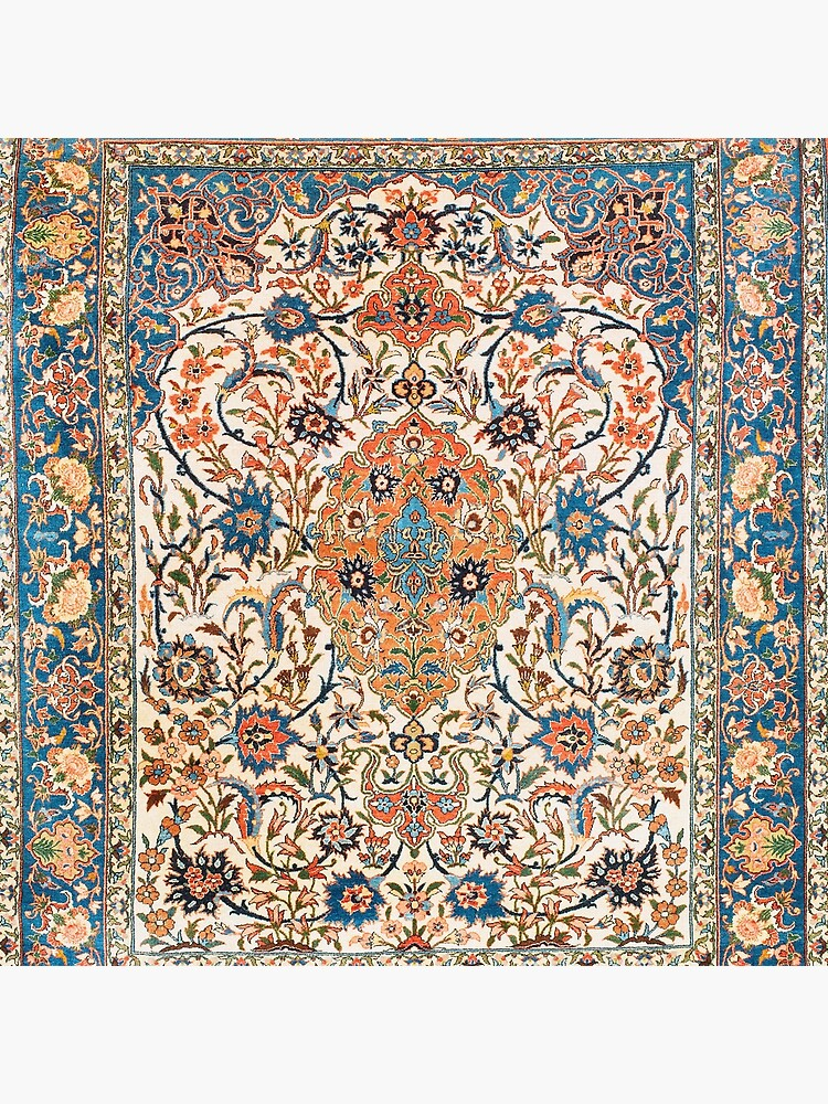 Isfahan Antique Central Persian Carpet Print by bragova