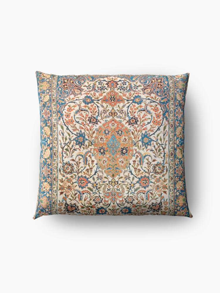 Alternate view of Isfahan Antique Central Persian Carpet Print Floor Pillow