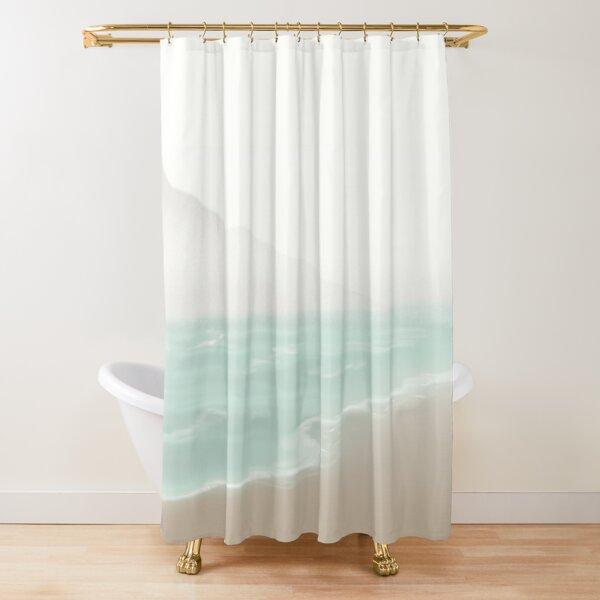 Neutral colors Beach Shower Curtain
