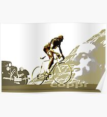 retro FAUSTO COPPI Tour de France cycling poster Poster