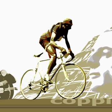 cartel retro de FAUSTO COPPI Tour de France de SFDesignstudio