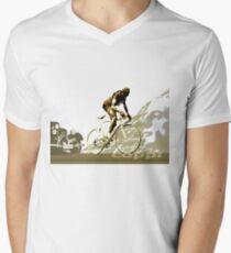 retro FAUSTO COPPI Tour de France cycling poster Men's V-Neck T-Shirt