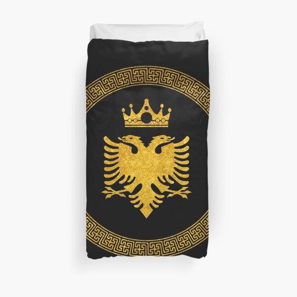 Gold Eagle Albanian Duvet Cover