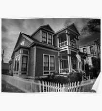 Galveston - Powhatan and Mattie Wren House 001 BW Poster