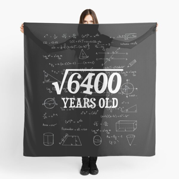 80th Birthday Gift - Square Root of 80 Years Old  Scarf