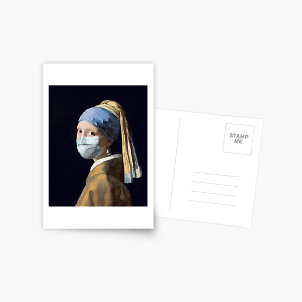 Coronavirus Girl with a Pearl Earring Postcard