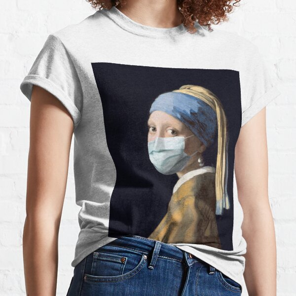 Coronavirus Girl with a Pearl Earring Classic T-Shirt