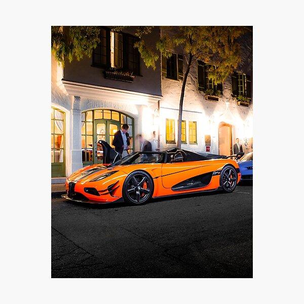 Koenigsegg Agera XS at Night Photographic Print