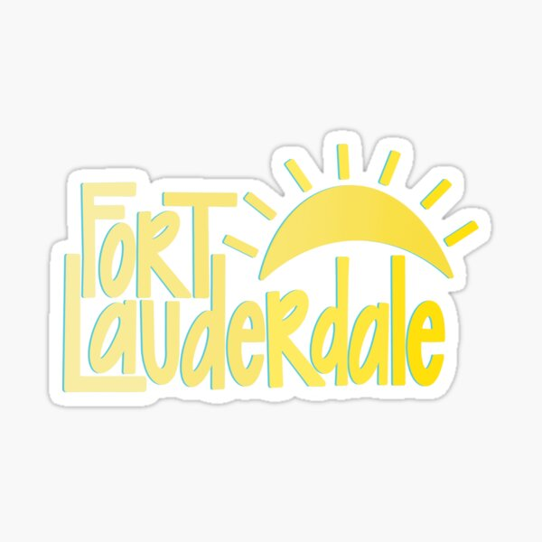 'FORT LAUDERDALE' - Sunshine Sticker
