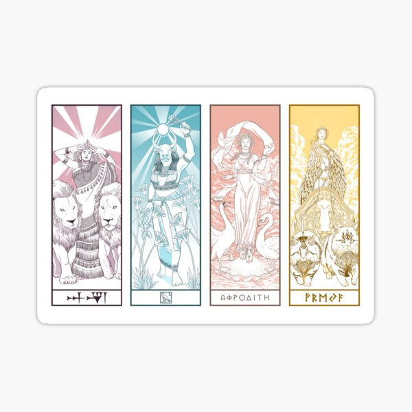Love Goddesses Sticker