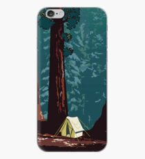 Vintage WPA Camping in Sequoia National Park iPhone Case
