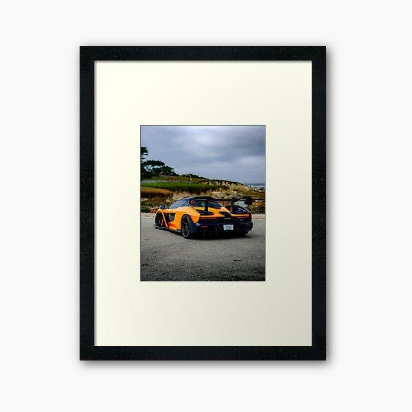 McLaren Senna Framed Art Print