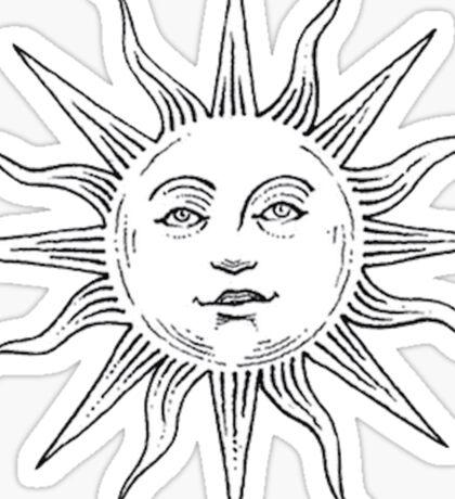 Tumblr sun Sticker