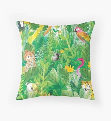Friends of the Forest Throw Pillow