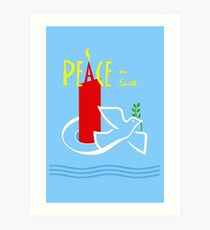 Peace on Earth, Dove and Candle Art Print