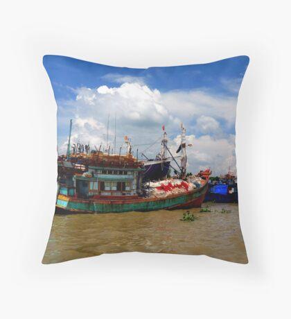 Mekong Delta, Vietnam Throw Pillow