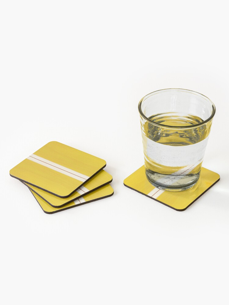 Alternate view of Yellow Vintage Surfboard Coasters (Set of 4)