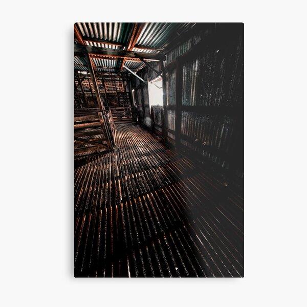 Shearing shed Metal Print