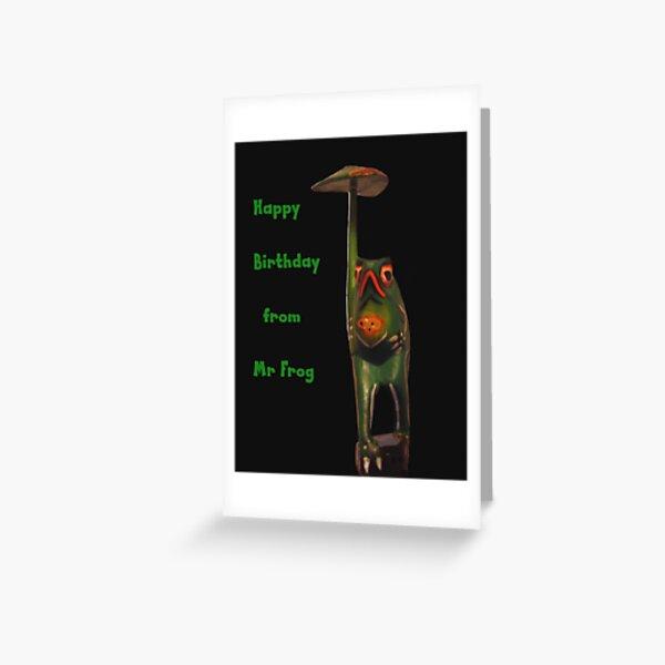 Mr Frog card Greeting Card
