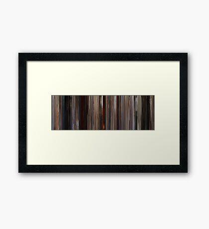 Moviebarcode: Jackie Brown (1997) Framed Print