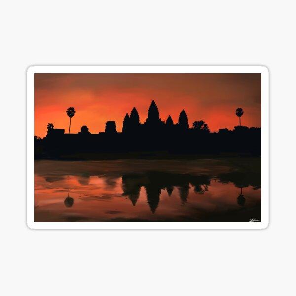 Angkor Wat at Dawn Sticker