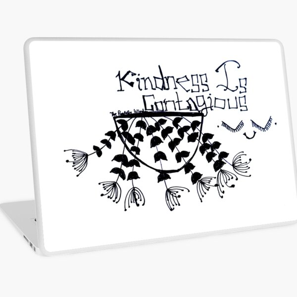 'Kindness is Contagious' Doodle Art Laptop Skin