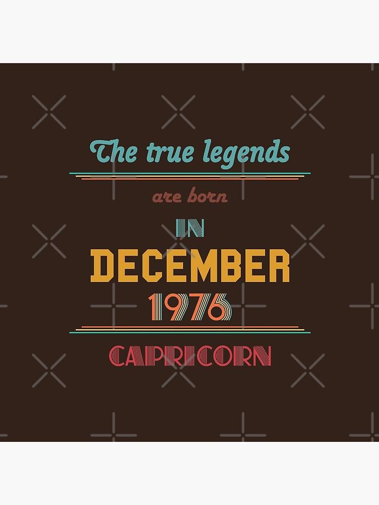Legends are Born in December 1976
