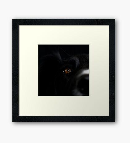 Square Black Framed Print