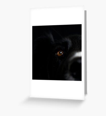Square Black Greeting Card