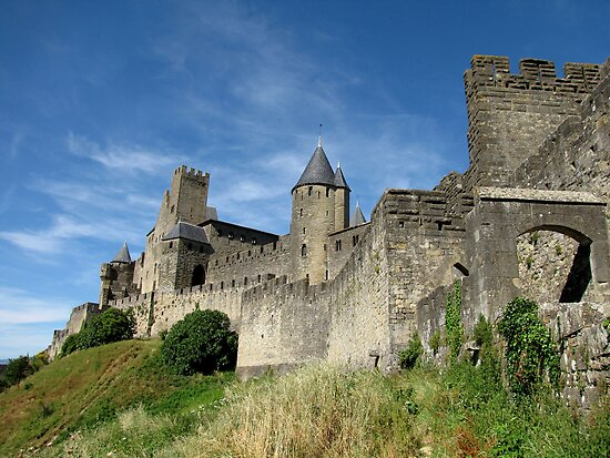 """The Castle Ramparts Carcassonne"" by jacqi 