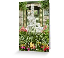 Cherubs in Floral Heaven Greeting Card