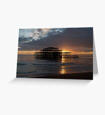 Brighton West Pier at Sunset Greeting Card