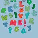 Love Me! alphabet tee by micklyn