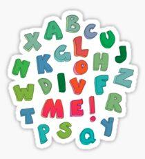 Love Me! alphabet tee Sticker