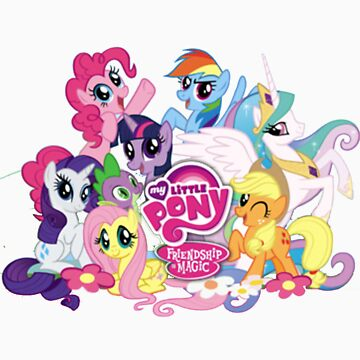 My Little Pony Mane6 and Logo by Eden51