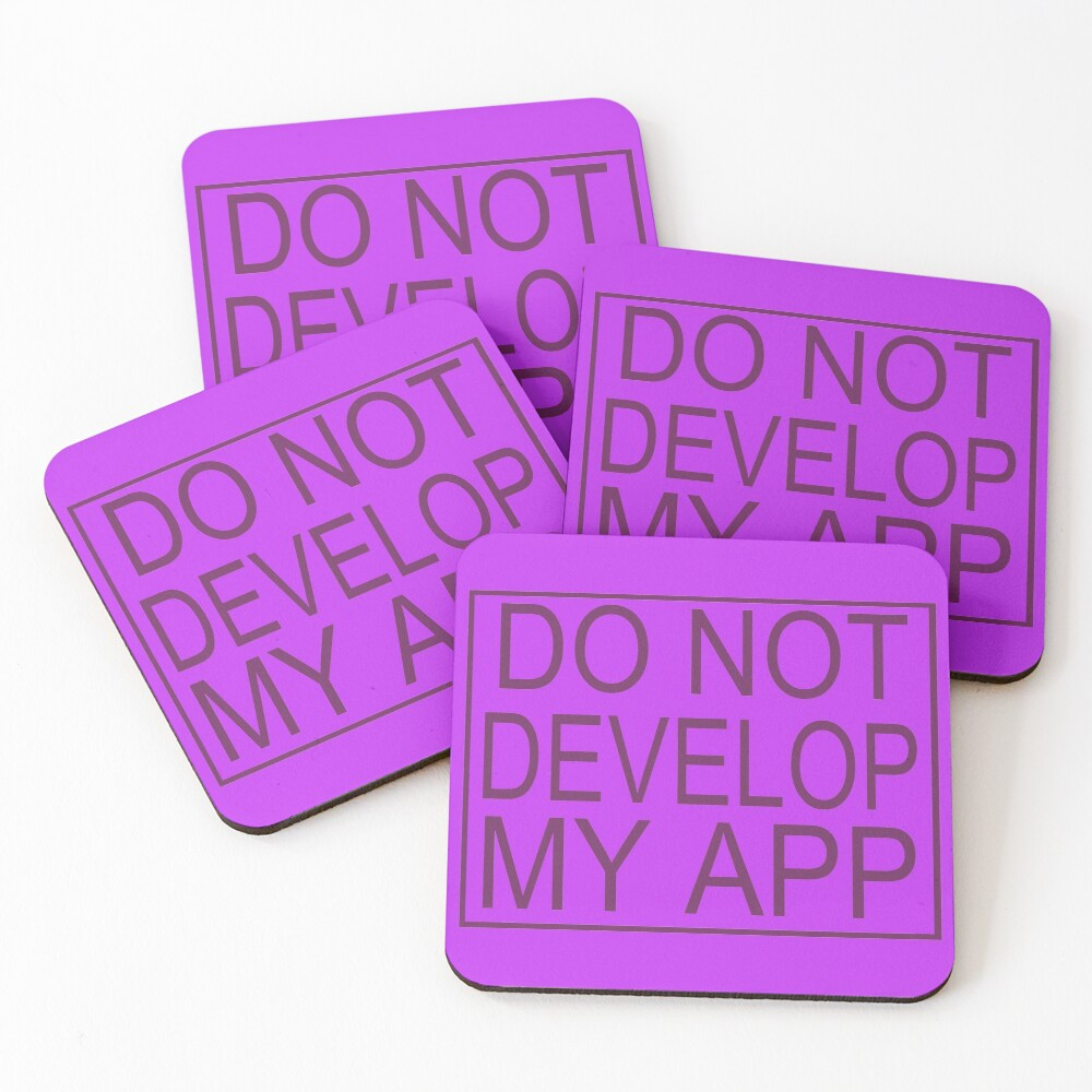 Do Not Develop My App Glootie from Rick and Morty Coasters (Set of 4)