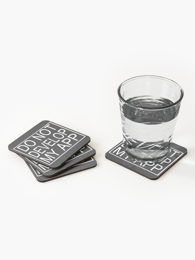 Alternate view of Do Not Develop My App Glootie from Rick and Morty Coasters (Set of 4)