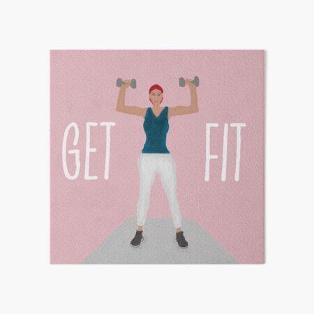Get Fit Fitness Art Art Board Print