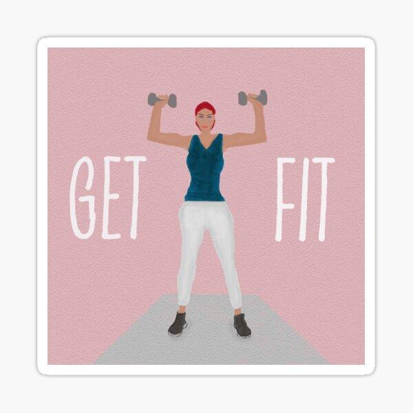 Get Fit Fitness Art Sticker