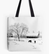 Horses in the Snow 2 Tote Bag