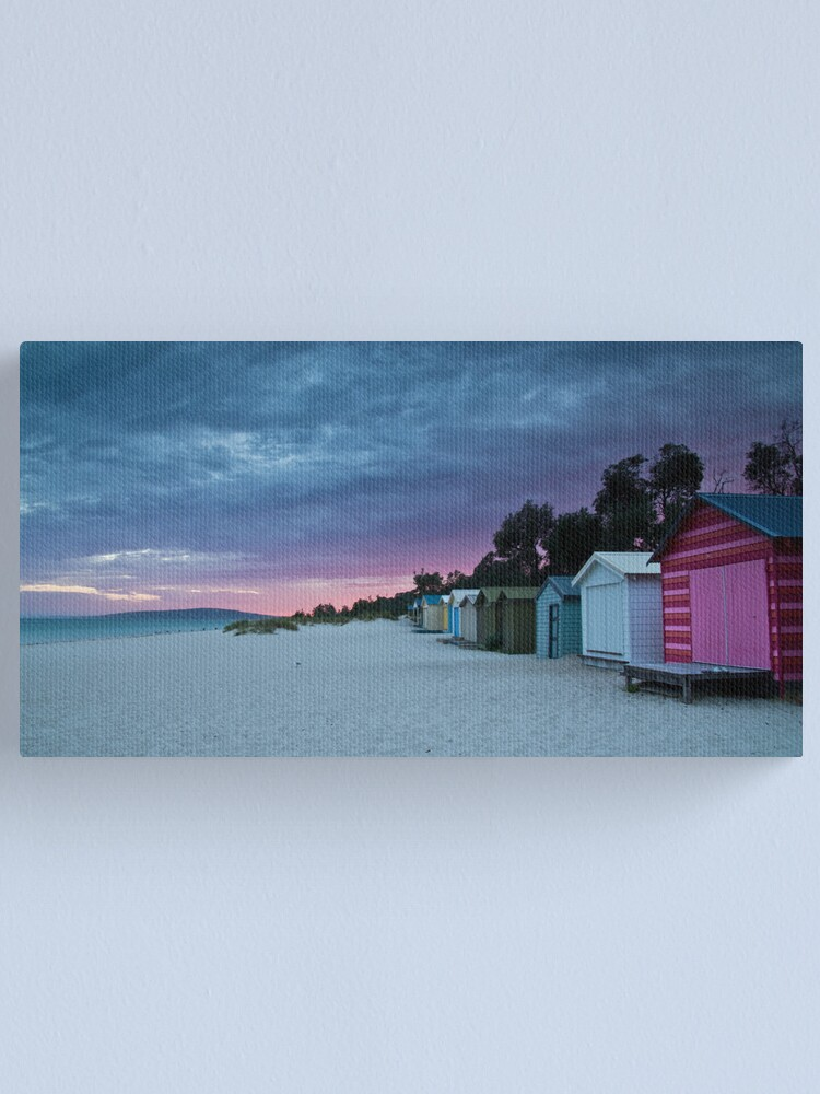 Alternate view of McCrae Boat Sheds Canvas Print