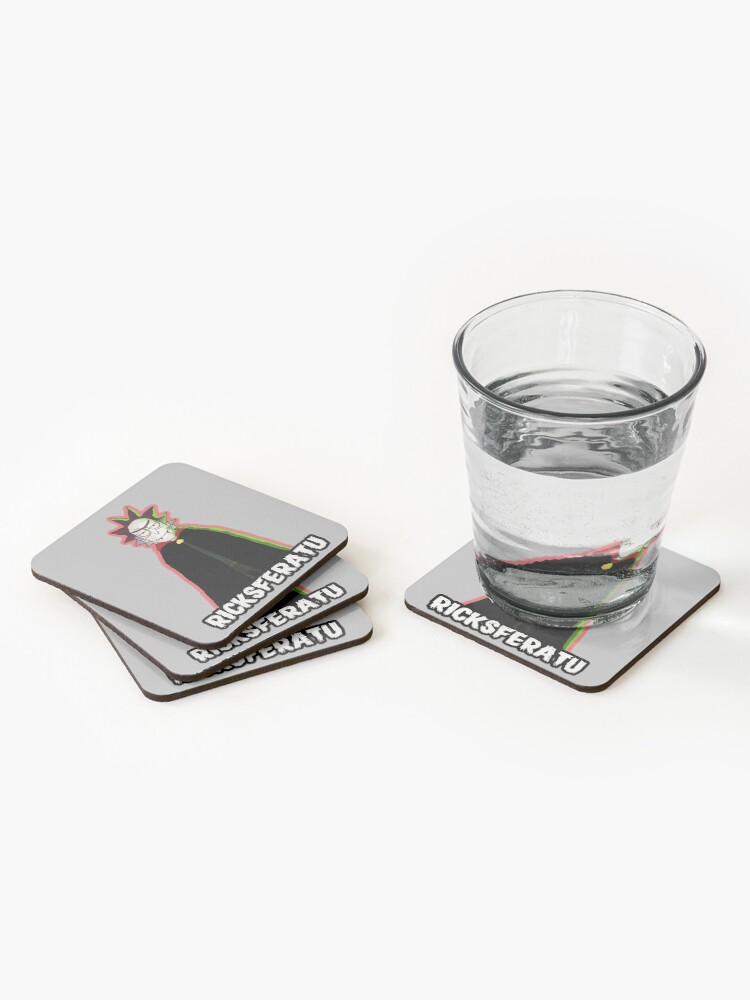 Alternate view of Ricksferatu Rick and Morty Coasters (Set of 4)