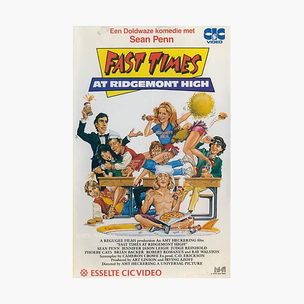 Fast Times Movie Poster Photographic Print