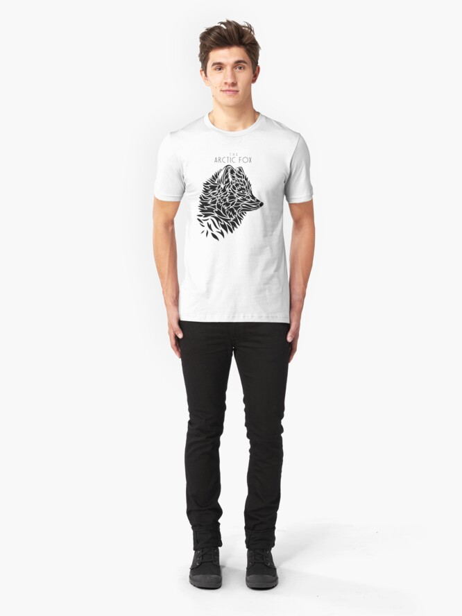 Alternate view of The Arctic Fox - black Slim Fit T-Shirt