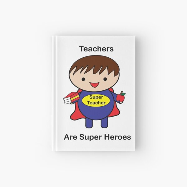 Teacher Male Super Hero Kawaii Hardcover Journal