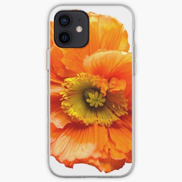 Mohnblume poppy orange  iPhone Flexible Hülle