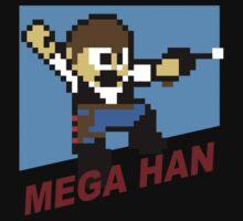 (MegaMan / Han Solo) Mega Han Shirt 8-bit