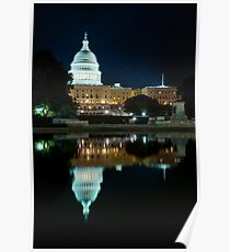 The Capitol Building at Night, Washington DC Poster