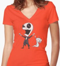 Invader Jack! Women's Fitted V-Neck T-Shirt